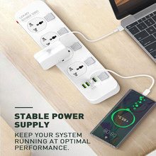 цена на EU UK US Plug Power Strip Surge Protection Electrical Universal Extension Sockets Outlets fast charging USB Independent Switch