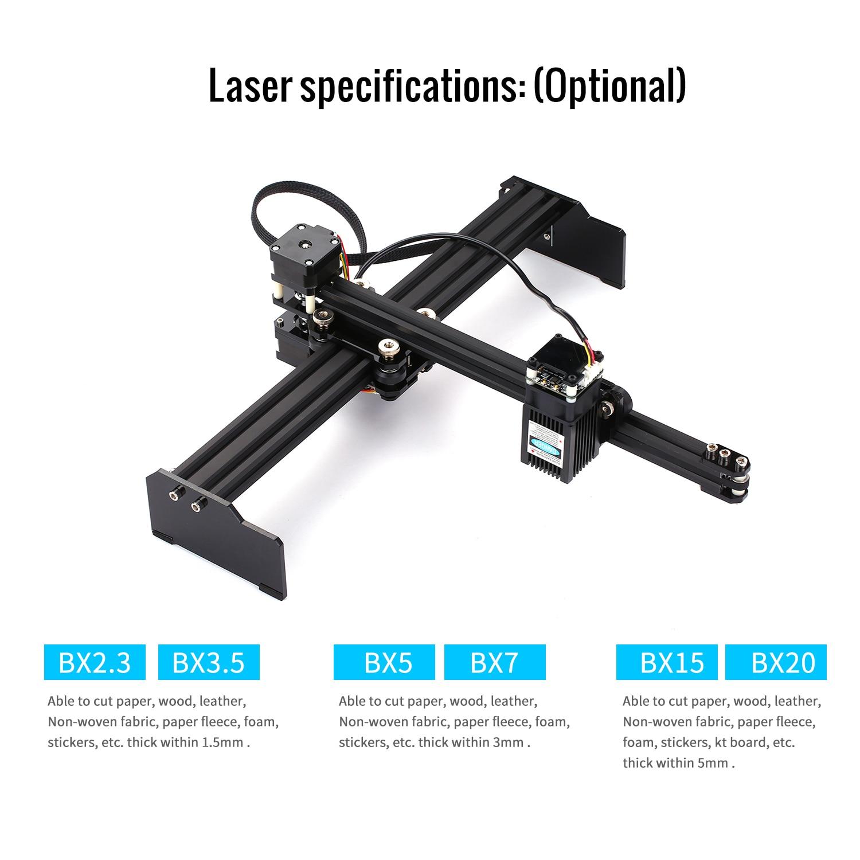 VG-L7 405nm/445nm prise américaine 2.3W CNC Mini bureau Laser graveur ménage Art artisanat bricolage Laser gravure Cutter pour bois plastique