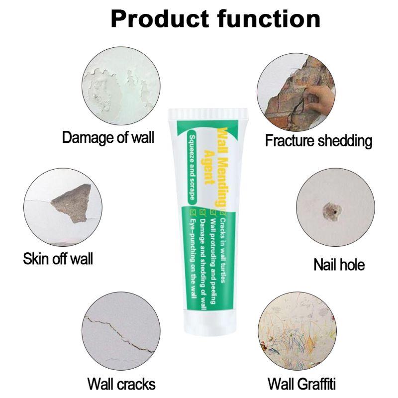 Wall Crack Repair Cream Wall Surface Repair Cream With Scraper Caulk Sealing Broken Hole Filler