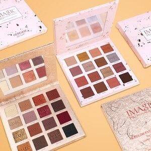Image 2 - IMAGIC модные тени для век Палитра 16 цветов матовые тени для век Палитра стойкий макияж телесный косметический набор для макияжа отправка кисти