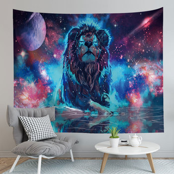 Hot Sale Wall Tapestry Watercolor Animal Printed Novelty Psychedelic Functional Dirt-resisting Blasket Picnic Cloth Valance image