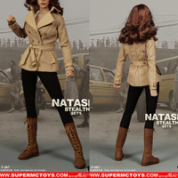 1/6 Female Soldier Female Puppet Clothing Accessories Black Widow Natasha Stealth Suit Spot F067 Non Body Head Sculpture
