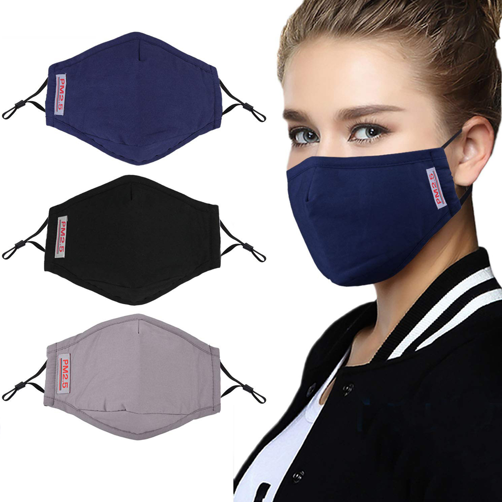 1Pcs BYEPAIN Cotton PM2.5 Black mouth Mask anti dust Activated carbon filter Windproof Mouth-muffle bacteria proof Flu masks 1