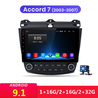 10.1 inch Android 9.1 2Din Car Multimedia Player Head Unit GPS For Honda Accord 7 2003 2004 2005 2006 2007 Stereo Audio Radio