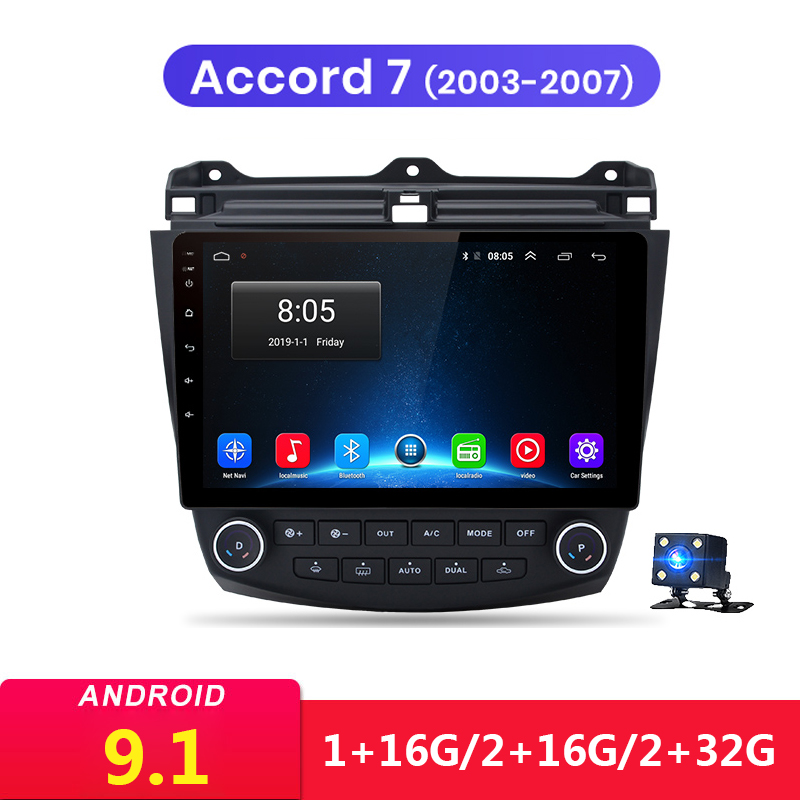 10,1 zoll <font><b>Android</b></font> 9.1 2Din Auto Multimedia-Player Kopf Einheit GPS Für Honda <font><b>Accord</b></font> 7 <font><b>2003</b></font> 2004 2005 2006 2007 Stereo audio Radio image
