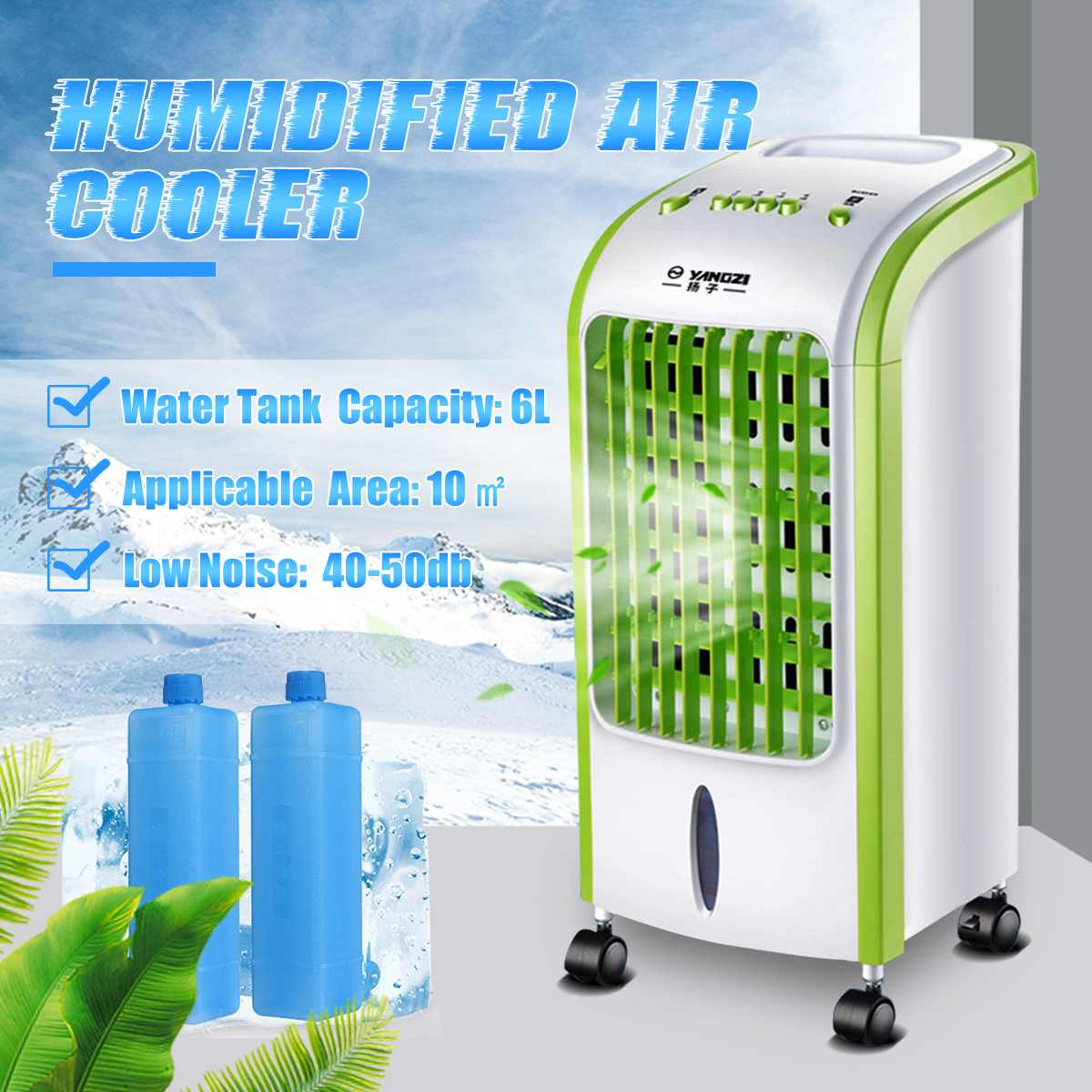 Portable Air Conditioner Cooling Conditioning Fan Humidifier Cooler Cooling System 220V Mini Air Conditioner With 2 Ice Crystal