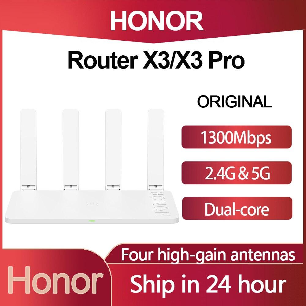 Honor маршрутизатор X3 /X3 Pro 1300 м Беспроводной двойной гигабитный 2,4G/5G Wi-Fi с 4 антенны с высоким коэффициентом усиления сквозь стену высокоскорос...