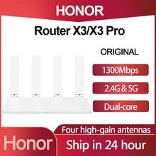 Honor routeur X3 /X3 Pro 1300M sans fil double Gigabit 2.4G/5G Wifi avec 4 antennes à Gain élevé à travers le mur routeur haute vitesse