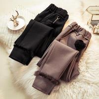 Autumn Winter Woolen Harem Pants Warm Thicken Plus Size Pants Female Casual Streetwear Black Trousers Women Clothing 4XL Q1945
