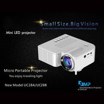 Início Mini Projetor Portátil Em Miniatura Projeção HD 1080P Mini Projetor LED Para Home Theater Entretenimento