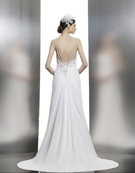 casamento vestido de noiva renda crystal Beading wedding dress 2016 new fashionable sexy romantic bridal gown free shipping