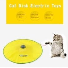 Jouet de chat électrique plateau tournant intellectuel interactif chat jouets en plastique chat de compagnie plaque damusement jouets jeu jouets de filature pour chats 5