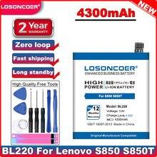Losoncoer bl220 4300 mah li-polyer bateria para lenovo s850 s850t bateria do telefone