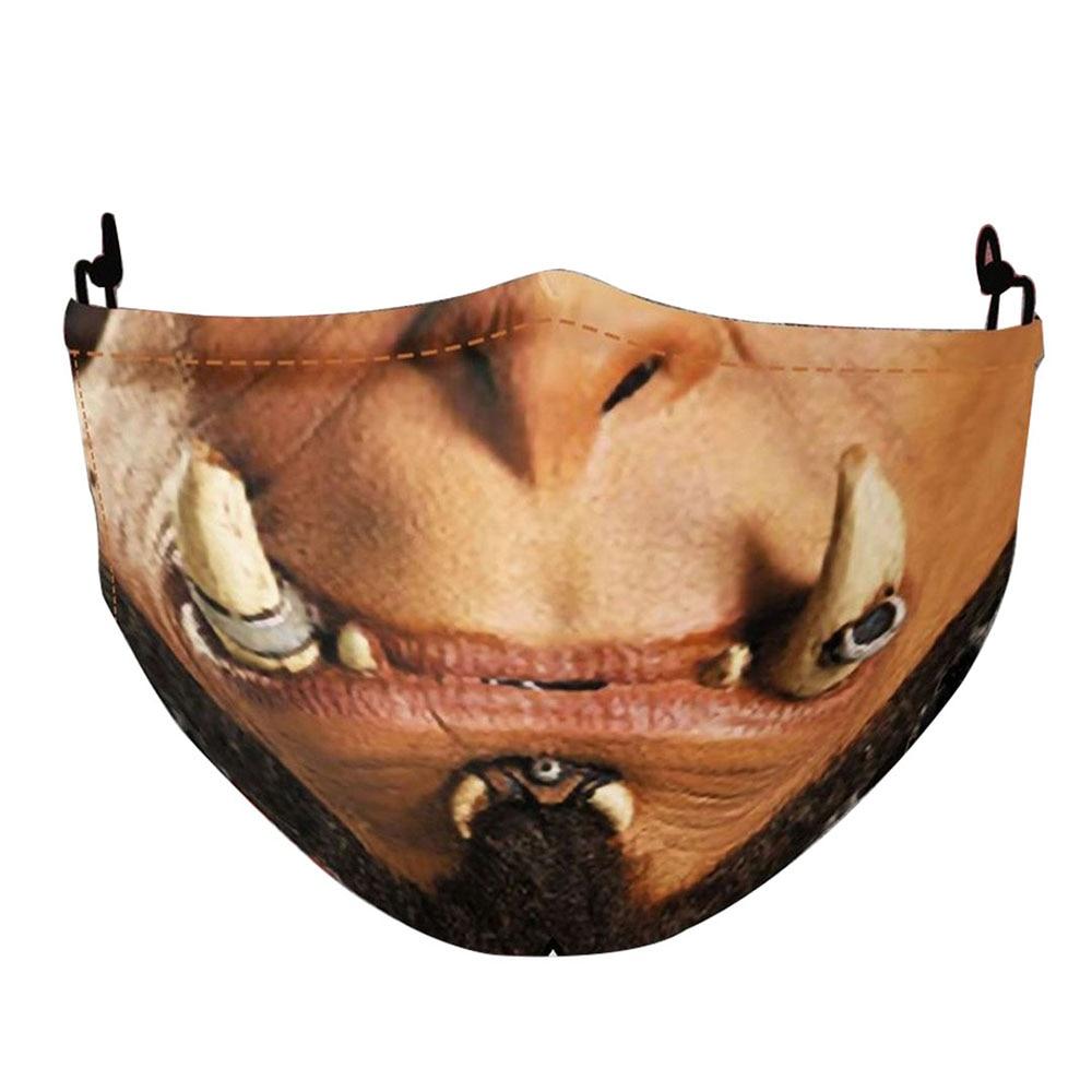 Забавные Джокер маски 3D Модный с принтом «череп» для взрослых Чехлы рот косплей на Хеллоуин вечерние Многоразовые моющиеся Подушечка для л...