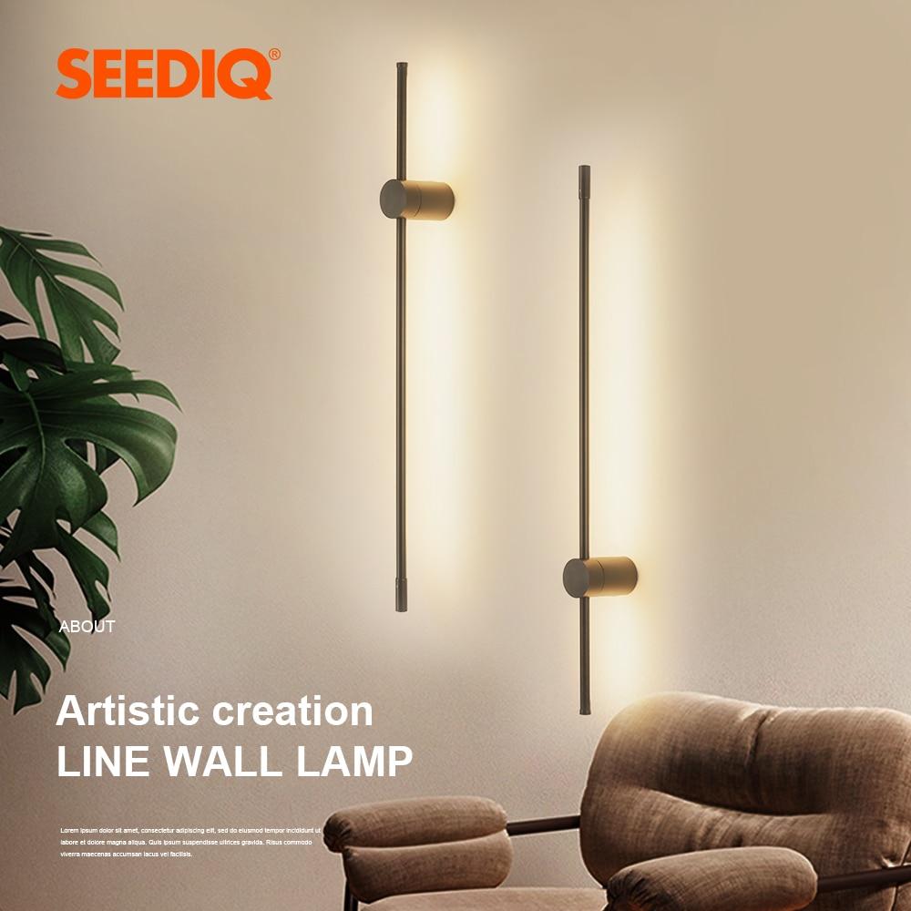Luz Led de pared decorativa para sala de estar, candelabro de pared del dormitorio, lámpara de pared interior, accesorio de AC85-265V