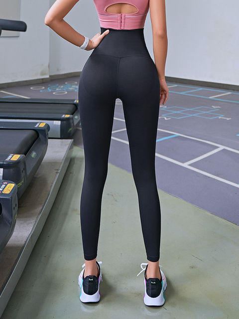 2020 Yoga Pants Stretchy Sports Best Black Leggings High Waist Compression Tights  Push Up Running Women Gym Fitness Leggings 5