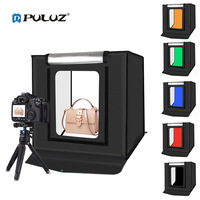 PULUZ 40x40cm 30w folding photo studio LED light box photography lightbox Tent Box Tabletop Shooting SoftBox 6 color Backgrounds