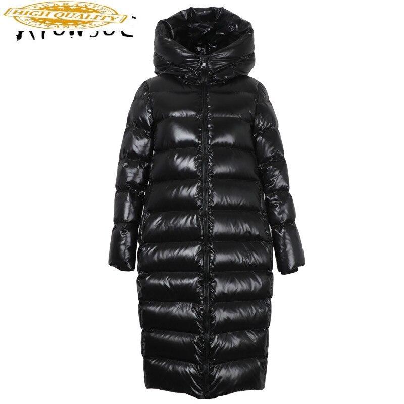 Puffer Jacket Women 90% White Duck Down Coat Winter Coat Women Hooded Down Jacket Korean Jacket Casaco 18-158 YY1391