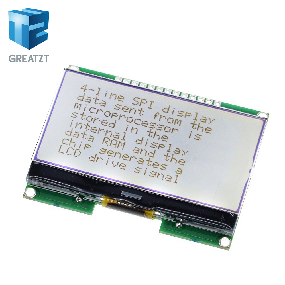 GREATZT  Lcd12864  12864-06D, 12864, LCD Module, COG, With Chinese Font, Dot Matrix Screen, SPI Interface