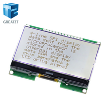 GREATZT Lcd12864 12864-06D, 12864, LCD module, COG, with Chinese font, dot matrix screen, SPI interface(China)