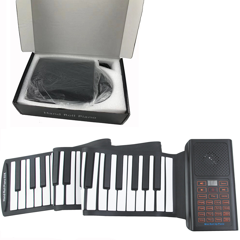 88 Key Portable Flexible Roll Big Piano Home Toys For Adult/Kid Electronic Keyboard Multiple Tones Bluetooth APP Connection