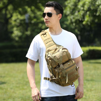 FGHGF Waterproof Oxford Cloth Outdoor Sports Travel Extra Large Chest Bag Camouflage Messenger Shoulder Tactical Backpack