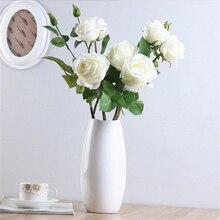 Искусственная Цветочная подделка букет роз для дома, вечерние, праздничные, свадебные украшения GQ