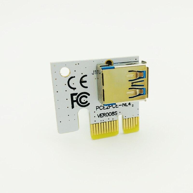 1X X1 90 Grau De Riser PCI-e Riser Cartão Adaptador PCI para USB Para Riser 006 006C 008 007S S