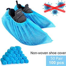 Shoe-Cover Disposable Hospital Indoor Non-Slip Non-Woven 100pcs for And Building Water-Resistant