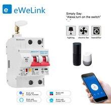Disjoncteur intelligent WiFi 2P, commutateur automatique, surcharge de court Circuit, protection pour maison connectée, compatible avec Alexa et Google home