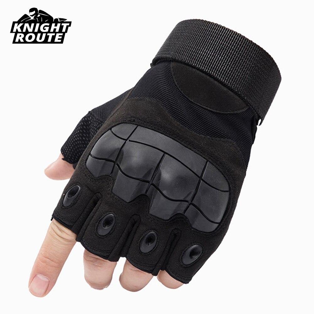 Motorrad Handschuhe Finger Motocross Motorrad Moto Handschuhe Military Tactical Radfahren Racing Reiten Biker Halbe Finger Glvoes