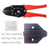 LS-02 herramienta de engarzado a mano de alta calidad para conectores de película de calentamiento sin aislamiento con mandíbulas planas herramienta de engarzado al por mayor