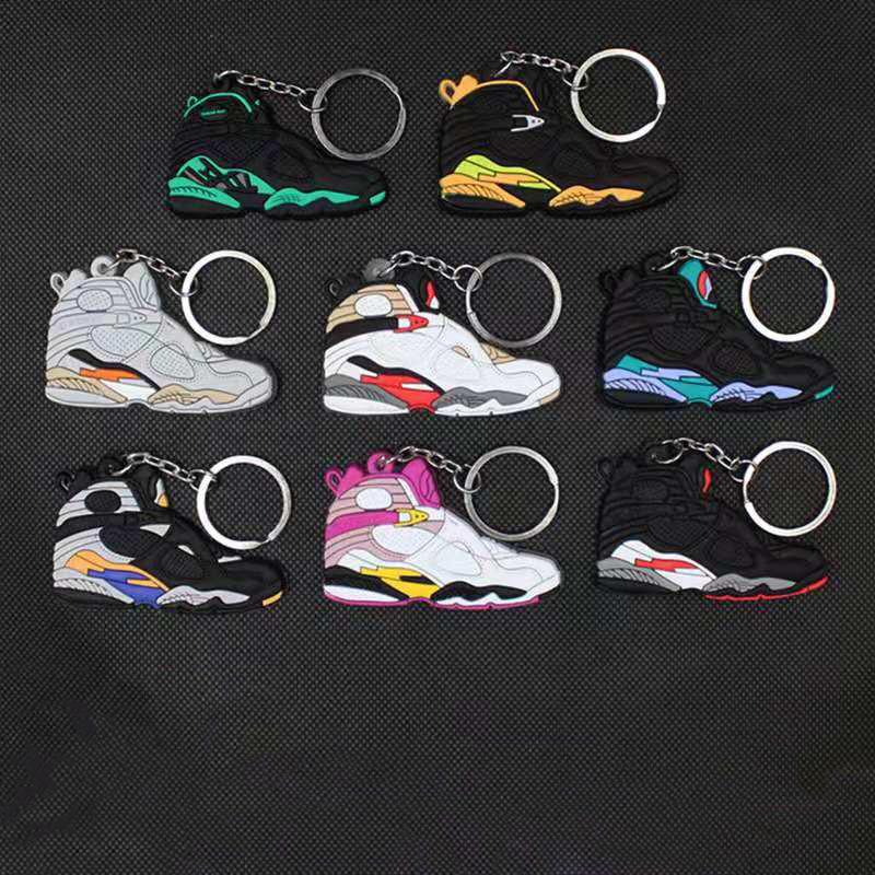 NEW Mini Silicone Jordan Shoes Keychain Bag Charm Woman Men Kids Key Ring Gifts