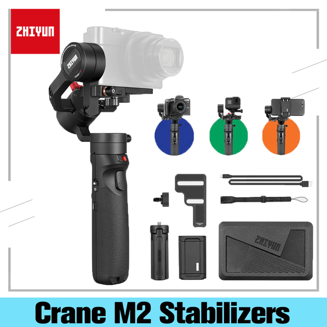 ZHIYUN Crane M2 Gimbals 3 Axis For Smartphones Phone Mirrorless Action Compact Cameras New Arrival 500g Handheld Stabilizer
