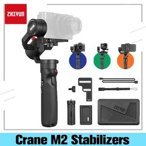 Image 1 - ZHIYUN Crane M2 Gimbals 3 osi dla smartfonów telefon bezlusterkowiec aparatów kompaktowych New Arrival 500g ręczny stabilizator