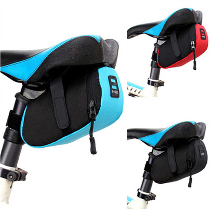 Bicycle Tail Bag Seatpost Mounted Storage Saddle Bag Waterproof Bicycle Mini Luggage Pouch Small Pack For Mountain Road Bike