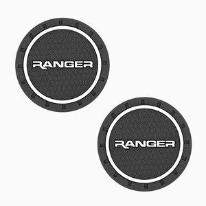 2 шт., автомобильный нескользящий коврик для чашки с водой для Ford Ranger T6 2008 2017 2018