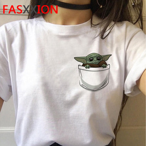 Baby Yoda Mandalorian T Shirt Men/women Harajuku Star Wars T-shirt Satanist moive graphic tees men Tshirt Male 80s Top(China)