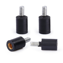 4Pcs Easy Install Damping Mounting Durable Fixed Black Screws Rubber M2/M3 Accessories