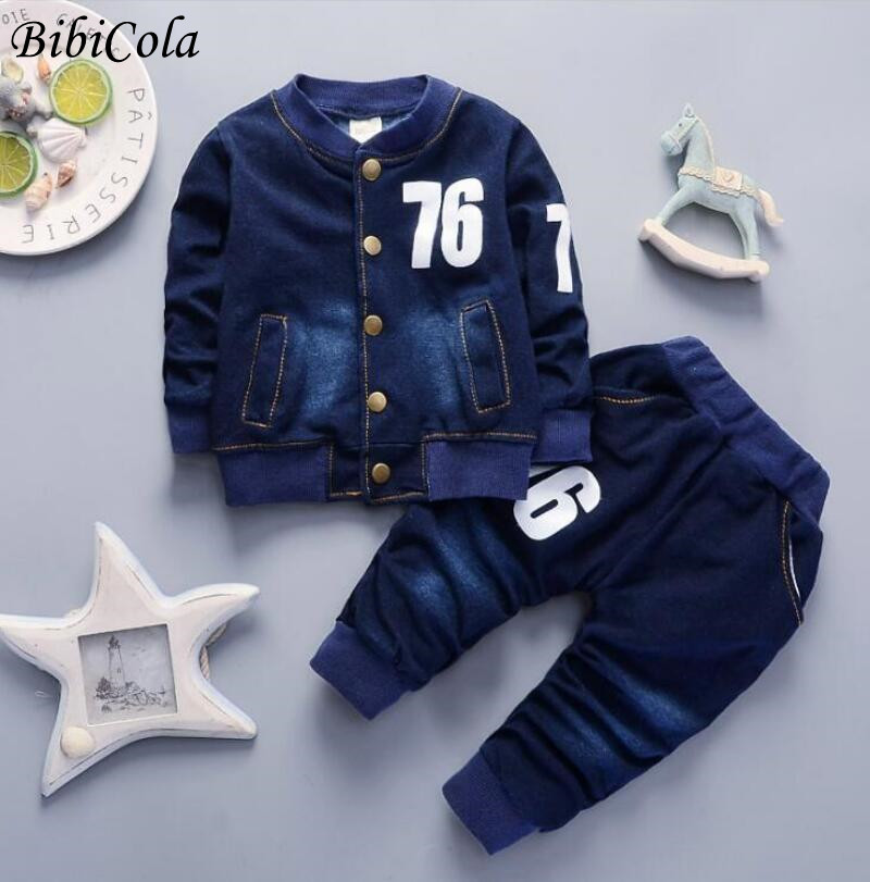 Baby Boys Clothes Sets Autumn Spring Infant Tracksuits Toddler Cotton denim set Outfits for Newborn Boys Clothes Suits
