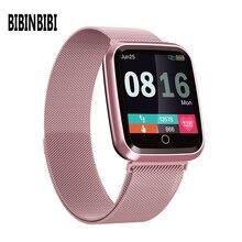 Femmes montre intelligente IP68 étanche smartwatch moniteur de fréquence cardiaque Sport Fitness montre appareils portables pour ios Android cadeau sangle