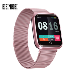 Image 1 - Femmes montre intelligente IP68 étanche smartwatch moniteur de fréquence cardiaque Sport Fitness montre appareils portables pour ios Android cadeau sangle