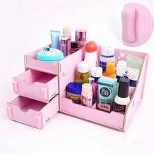 Настольный ящик для хранения косметики органайзер для выдвижных ящиков коробка для ювелирных изделий Контейнер для макияжа косметический Органайзер контейнер для косметики коробки