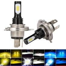 2 pces csp h4 faro led h7 9005 hb3 9006 hb4 ampola lâmpada h8 h11 carro luz 12v super led carro farol lâmpada 6000k focos automovil