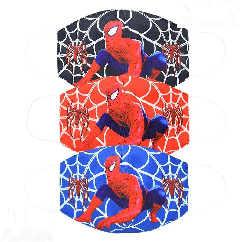 Disney Spiderman Adult And Children Face Masks Cartoon Cotton Dustproof Face Mask Keep Warm Cosplay Kids Toys Anime Mouth Masks