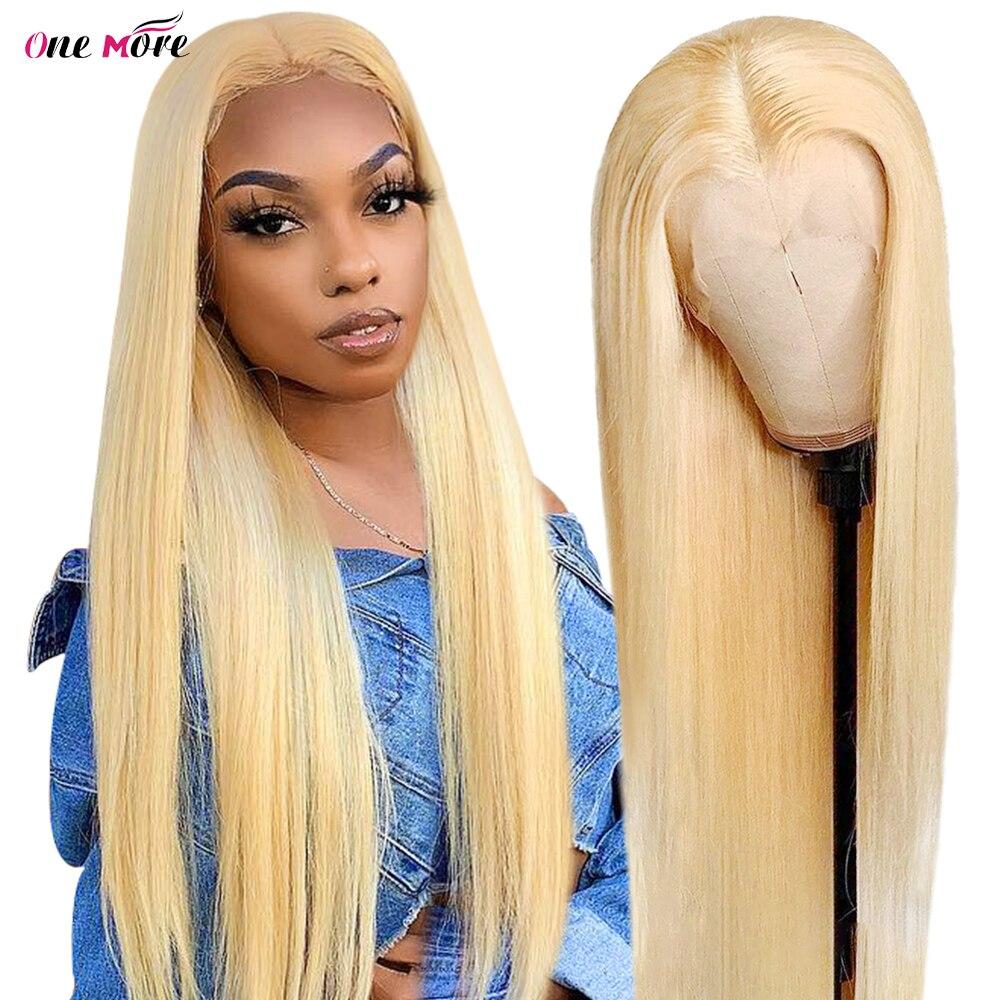 28 30 дюймов 613 блондинка Синтетические волосы на кружеве парик человеческих волос 13x4 с прямыми Синтетические волосы на кружеве парик прозрач...