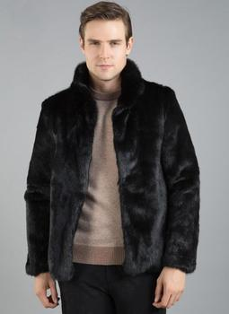 Autumn faux mink fur leather jacket mens stand collar lapel winter thicken warm fur leather coat men loose jackets fashion B248
