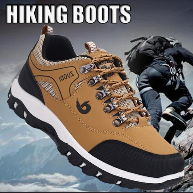 2021 New Brand Fashion Outdoors Sneakers Waterproof Men's shoes Men Combat Desert Casual Shoes Zapatos Hombre Big Size 39-48 2