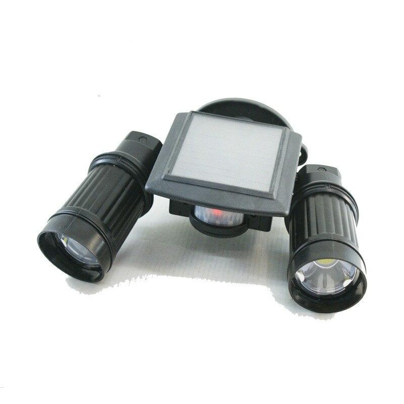 Solar Double Energy-saving Spotlights Human Intelligence Sensor 10W COB Lamp Beads Outdoor Courtyard Light