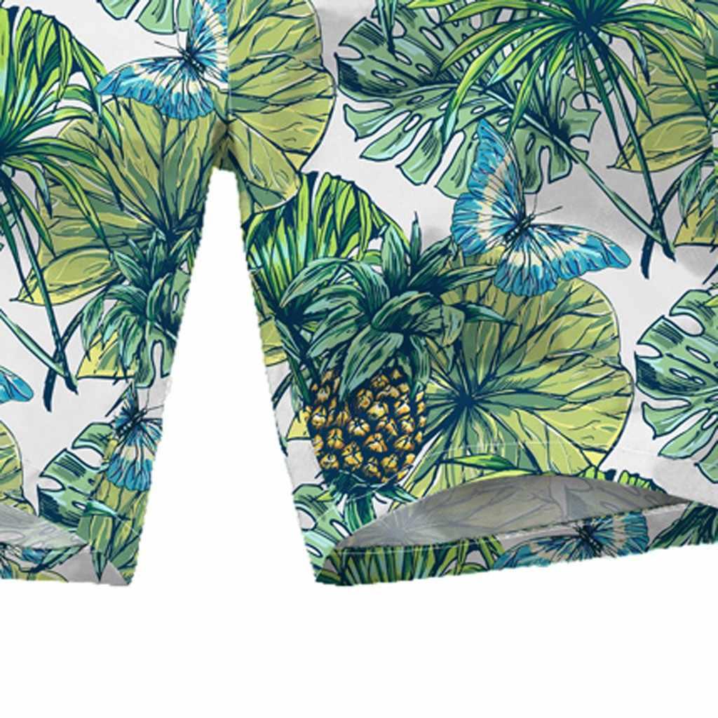 Pantalones cortos de playa para hombre, pantalones cortos con estampado Hawaiano, pantalones cortos holgados e informales con estampado de grafiti para playa, bañadores de verano para nadar # ljc
